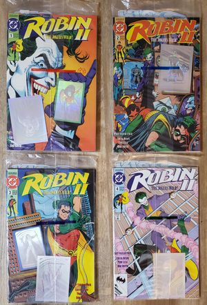 ROBIN II - THE JOKER'S WILD - #1 - 4 COMPLETE COLLECTORS SET - 14 COMICS / CARDS for Sale in Lakewood, WA