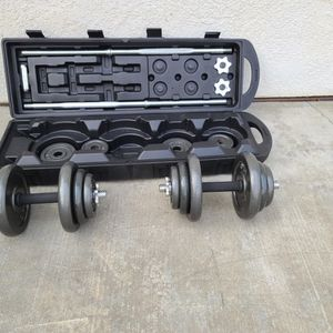 50 KG (110 lbs) Dumbbell & Barbell Set Box for Sale in Union City, CA