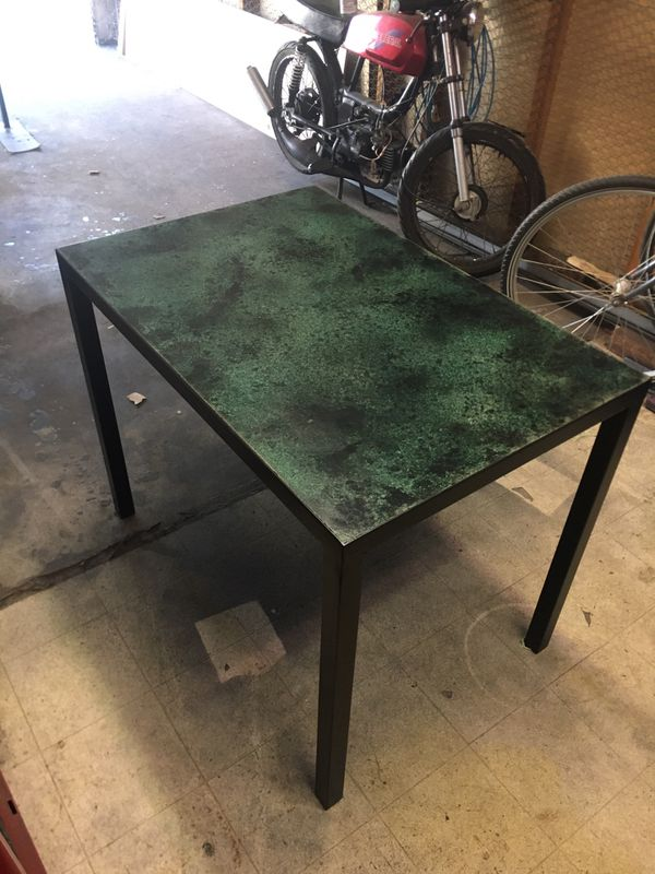 Small Kitchen Table - Modern Industrial (steel/concrete)