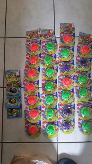 Brand new kids toys there's 27 squishy things and 3 bugs bought as end of yr gifts for son's classpaid $30 plus tax for Sale in Tampa, FL