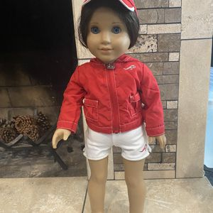 Used American girl doll lifeguard outfit. Includes shorts, jacket, hat, and shoes. for Sale in Aliso Viejo, CA