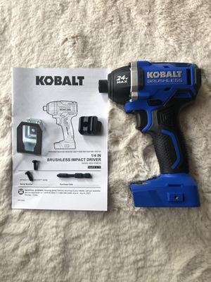 "Kobalt 24v 1/4"" impact drill for Sale in Milpitas, CA"