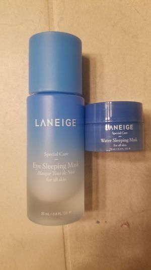 Laneige full size eye mask and travel Water sleep mask for Sale in Vancouver, WA