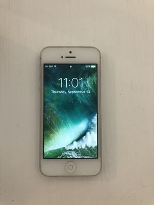 Silver iPhone 5 for Sale in Austin, TX