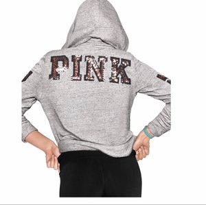 VS pink Bling Hoodie full Zip XSMALL for Sale in North Olmsted, OH