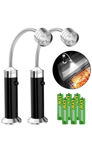 Barbecue Grill Light [Magnetic Base], UBEGOOD Grill Lights for BBQ with Super Bright LED Lights, 360 Degree Flexible Gooseneck, Weather Resistant, Ba for Sale in Alhambra, CA