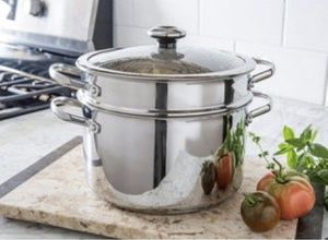 Revere Copper Confidence Oven Safe Stainless Steel Stock Pot with Pasta Stainer - BRAND NEW! REDUCED! for Sale in Las Vegas, NV