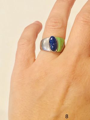 Vintage 925 Sterling silver with blue and green amethyst ring size for Sale in Bloomfield Hills, MI