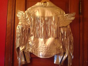 Rare Jeremy Scott for Adidas Silver Metallic Motorcycle Jacket! for Sale in Oak Park, IL