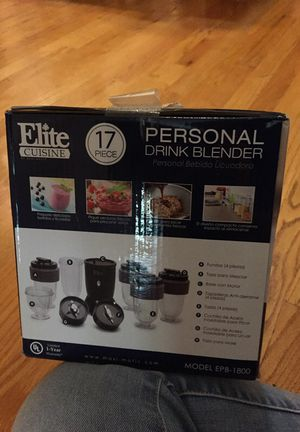 Elite cuisine 17 piece personal drink blender for Sale in Chicago, IL