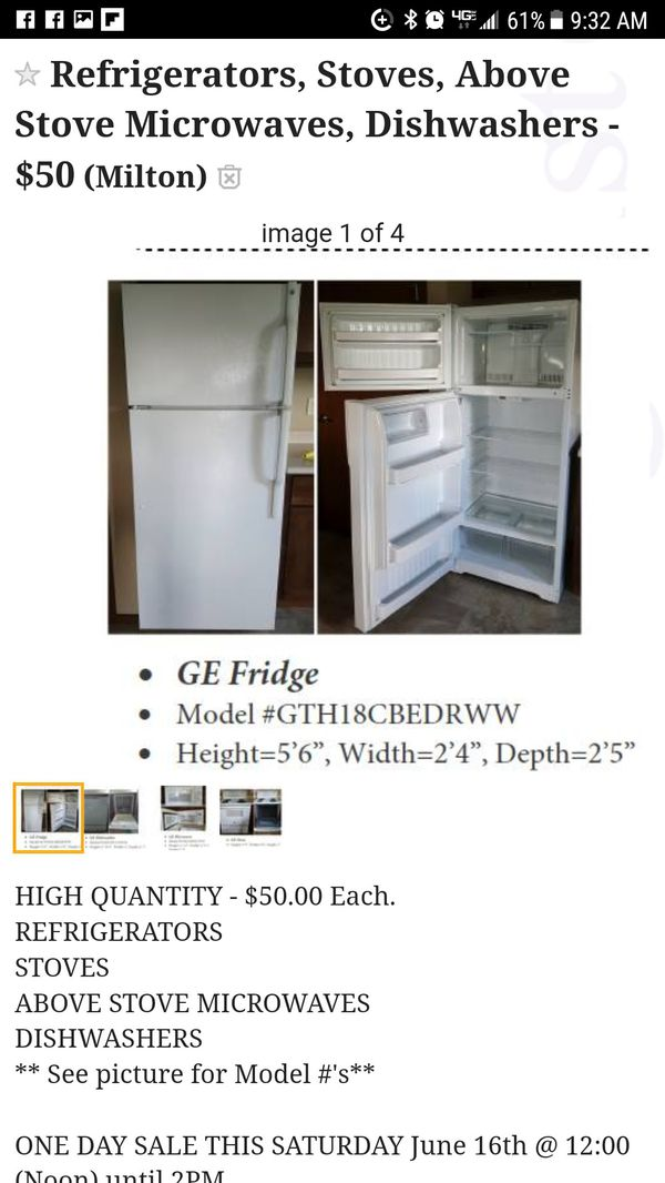 Appliance Sale Today Only!