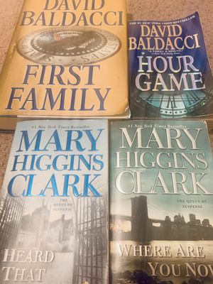 4 books Baldacci & Mary Higgins Clark for Sale in Wilmington, NC