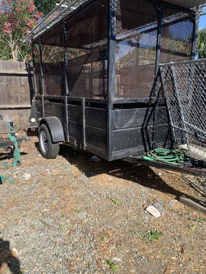 Trailer 5x10 high sides and rack on top for Sale in Antioch, CA