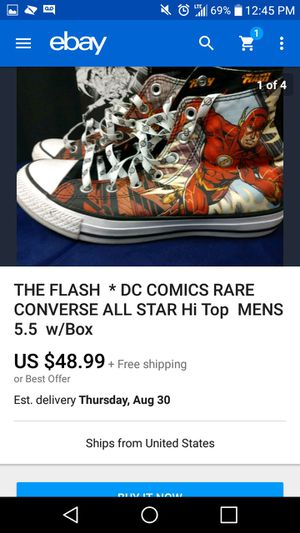 Converse All Star DC Comic THE Flash shoes for Sale in West Palm Beach, FL