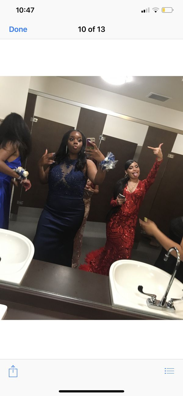 Prom dresses- Red and Gold