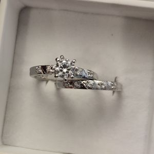 SET OF 2 SILVER & CUBIC ZIRCONIA ENGAGEMENT RING SET for Sale in Phoenix, AZ