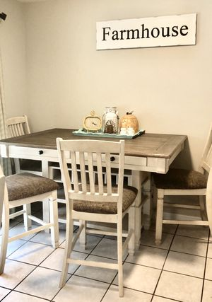 Kitchen table, 6 chairs, cart, & decor! for Sale in Draper, UT