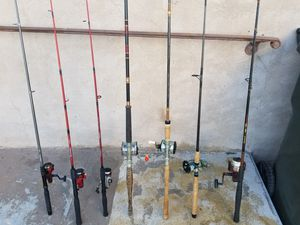 Fishing rod s. Different sizes different brands different prices. All in good working condition... for Sale in Alhambra, CA