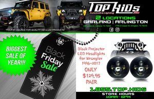 BLACK FRIDAY 7in Round Projector LED Headlight For 07-18 JEEP JK for Sale in Garland, TX
