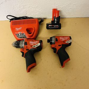 Milwaukee M12 Brushless Impact Driver And Drill Driver for Sale in Houston, TX