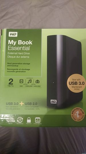 WD MY BOOK ESSENTIAL external hard drive 2tb for Sale in Carthage, MO