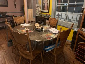 Dining table wood good conditions for Sale in Fontana, CA