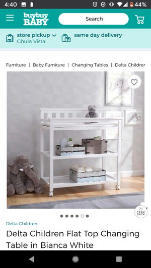 Delta Children Flat Top Changing Table in Bianca White for Sale in San Diego, CA
