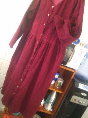 Burgundu Cordaroy Dress with Front Pockets And ButtonDown Front for Sale in NO HUNTINGDON, PA