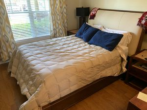Queen mattress, box spring, and frame NEGOTIABLE for Sale in Savannah, GA