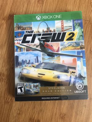 NEW Xbox One The Crew 2 Steelbook Gold Edition for Sale in Chula Vista, CA