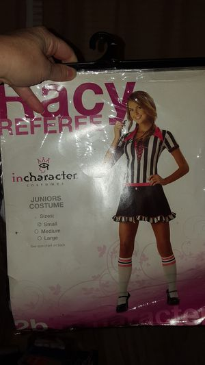 Halloween costume juniors size SMALL racy referee for Sale in Lowell, MA