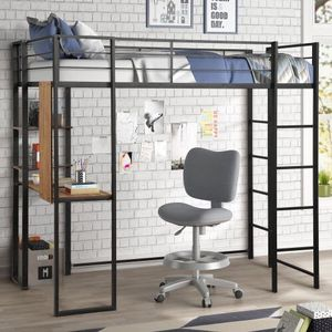 Black Loft Bed With Desk for Sale in Norwalk, CA