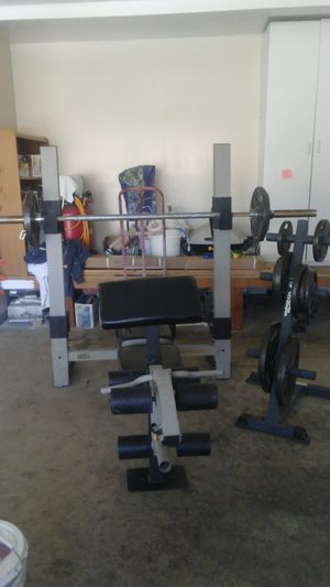 Olympic weight bench-Barbell-Weights-Weight Tree for Sale in Stockton, CA