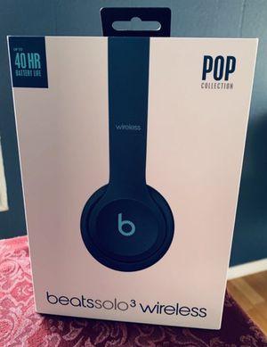 Beats solo 3 wireless headphones (Pop Collection Blue) for Sale in Riverside, CA