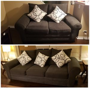 Sofa set with pillows pet free smoke free for Sale in Carol Stream, IL