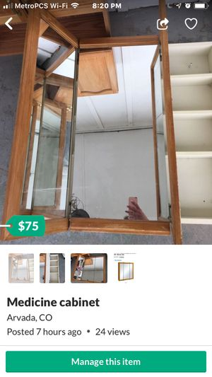 Set of bathroom cabinets one mirrored medicine cabinet for Sale in Arvada, CO