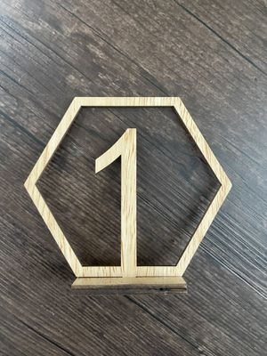 Hexagon wooden table numbers (1-20) for Sale in Shoreline, WA
