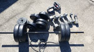 Weight training set and perfect push up set for Sale in St. Petersburg, FL