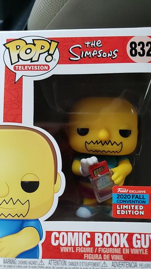 Simsons Comic book guy funko #832 for Sale in Stockton, CA