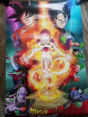 Dragonball Z Resurrection 'F' poster for Sale in Ceres, CA