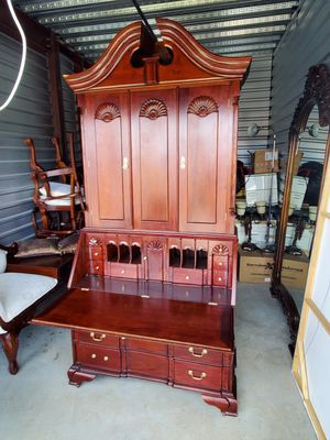 Giant secretary desk almost 8ft mahogany wood for Sale in Tomball, TX