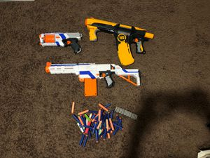 Nerf guns and bullets for Sale in Rocklin, CA