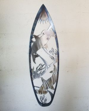 Shark surf board metal art 47x13.5inches for Sale in Doral, FL