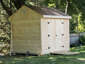 New 8' x 8' Pine Shed with A Frame Roof for Sale in Rehoboth, MA