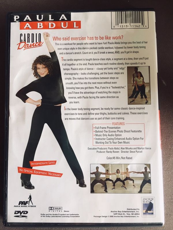 Paula Abdul Cardio Dance DVD