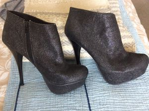 Bamboo black glitter ankle booties for Sale in Hoffman Estates, IL