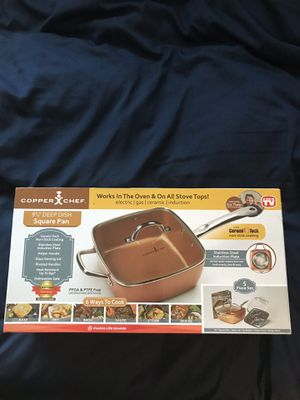 "NEW Copper Chef 9&1/2"" Deep Dish Square Pan for Sale in Orange, CA"