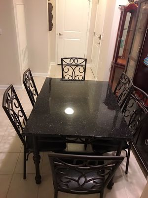 Dining table with six chairs for Sale in Crofton, MD