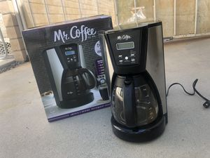 Mr. Coffee® 12-Cup Programmable Coffee Maker in Chrome/Black for Sale in Rancho Cucamonga, CA