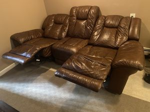 Leather Electric Sofa / Recliner / Couch for Sale in Staten Island, NY